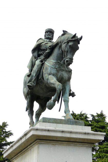 Equestrian Statue Of Giuseppe Garibaldi In Brescia Italy